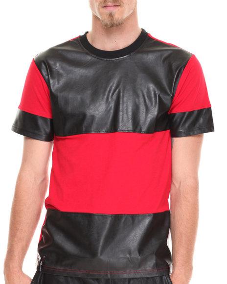 Enyce - Men Red Fletcher Pu T-Shirt