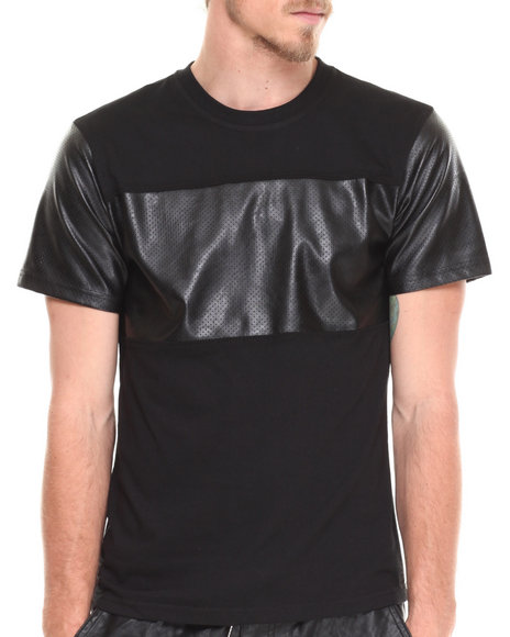 Enyce - Men Black Zach Pu T-Shirt