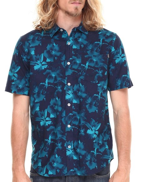 Huf - Men Navy Floral S/S Button-Down