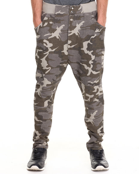 Two Angle Clothing - Men Camo Wogg Camo Sweatpants