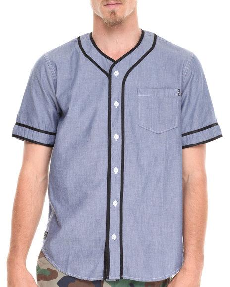 HUF Blue Jackson S/S Baseball Shirt