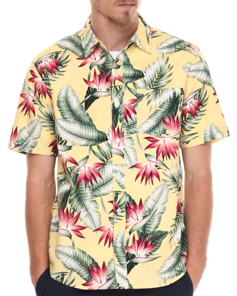 Huf Yellow Button-Downs