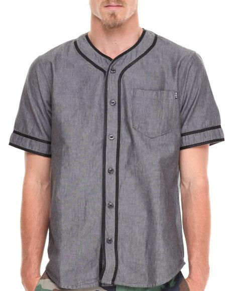HUF Grey Jackson S/S Baseball Shirt
