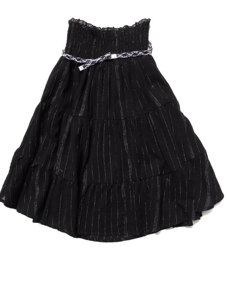 La Galleria Girls Black Smock Top Convertible Dress Or Skirt (7-16)