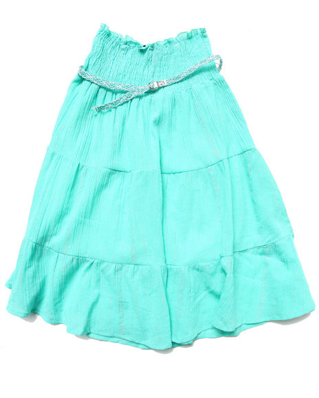 La Galleria Girls Blue Smock Top Convertible Dress Or Skirt (7-16)