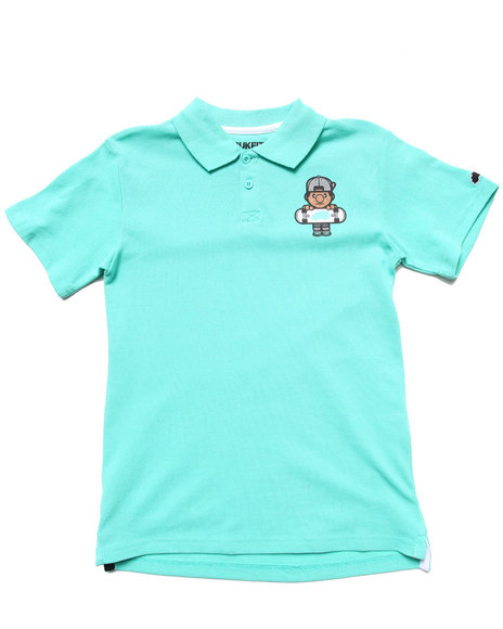 TRUKFIT Boys Teal Lil' Tommy Polo (8-20)