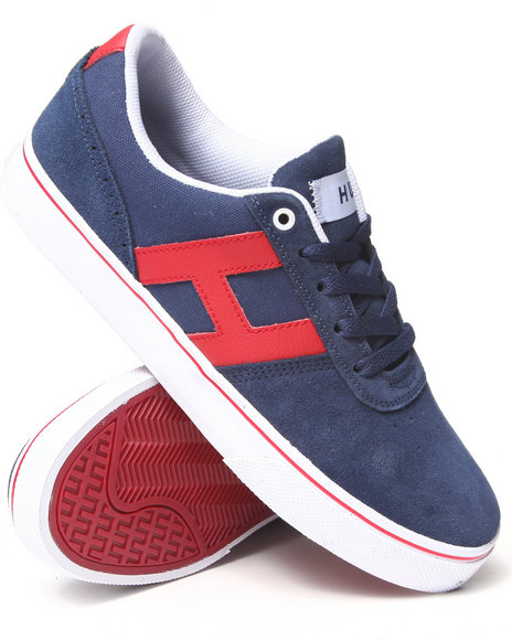 Huf - Men Navy,Red Choice Suede/Canvas/Leather Sneakers