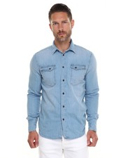Men - Gunnar Organic Summer Blues Denim Button