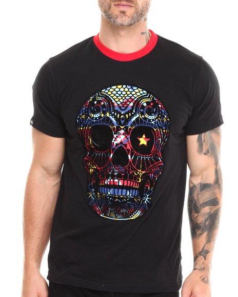 Buyers Picks - Men Black Neon Skull S/S Tee - $13.99
