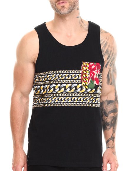 Enyce - Men Black Gold Rush Tank