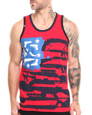Men - Guns, Stars & Stripes Tank Top