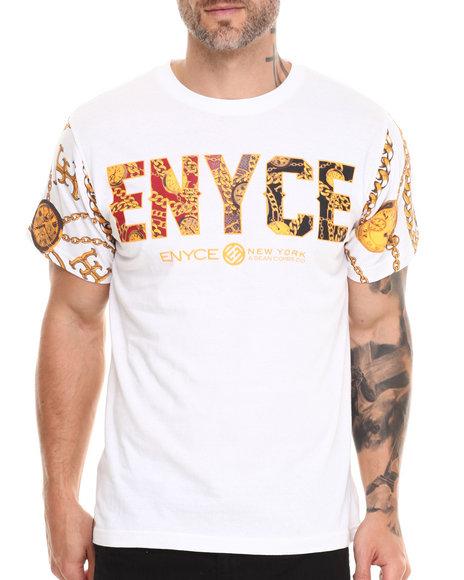 Enyce - Men White Puff T-Shirt