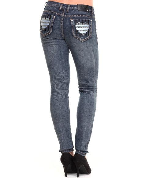 COOGI Medium Wash Heart Back Jem Pocket Jeans
