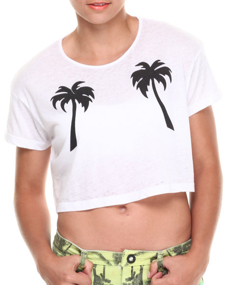 Volcom White Slashed Out Tee