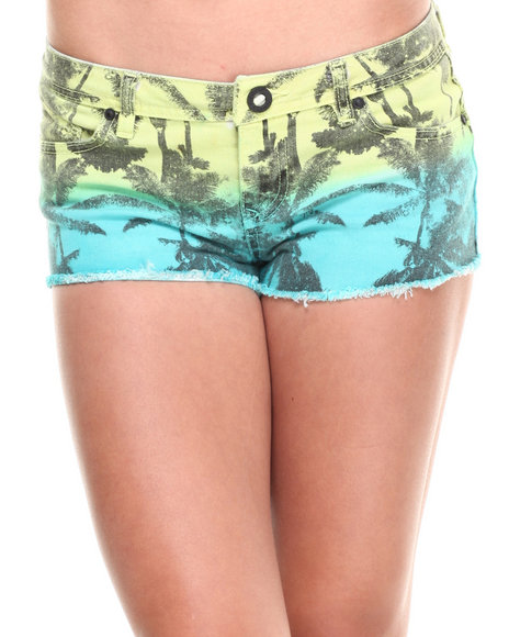 Volcom Teal High Voltage Shorts