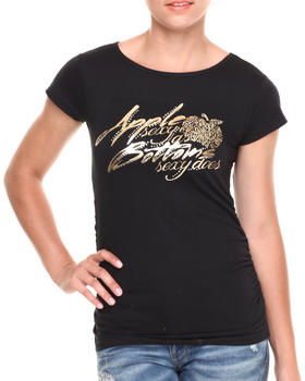 "Apple Bottoms - ""Sexy as Sexy Does"" Scoop Neck Tee"