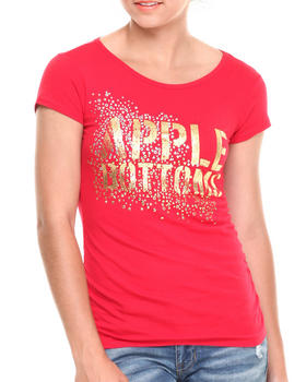 Apple Bottoms - Apple Bottoms Glitter Scoop Neck Tee
