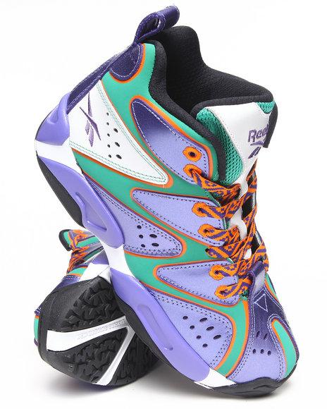 Reebok Boys Green,Purple Kamikaze I Mid Sneakers