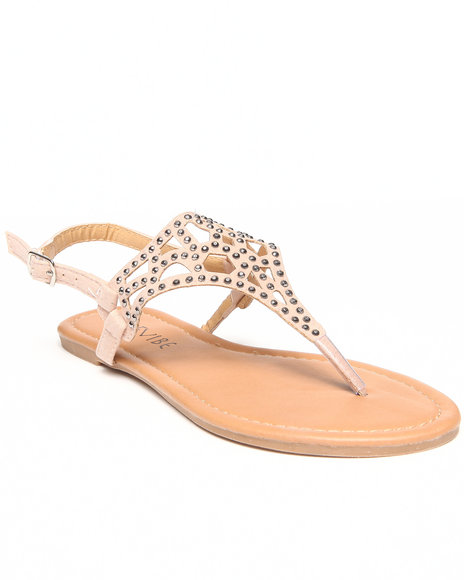 Fashion Lab - Women Beige Nora Flat Sandal W/ Cut-Outs