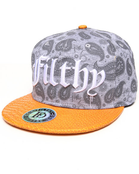 Filthy Dripped Men Paisley Hat Grey