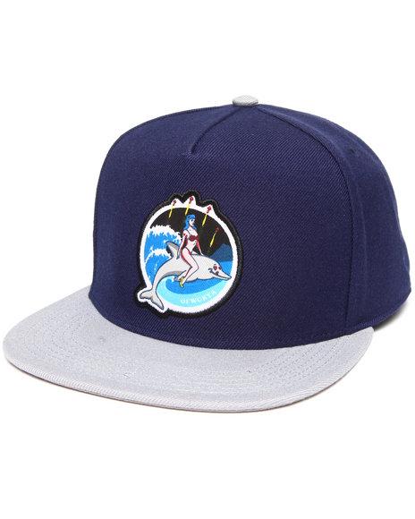 Odd Future Apparel Men Jasper Dolphin Firework Snapback Hat Navy