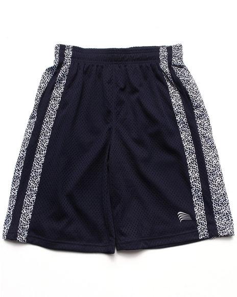 Arcade Styles - Boys Navy Mesh Shorts W/ Dazzle Trim (8-20) - $5.99