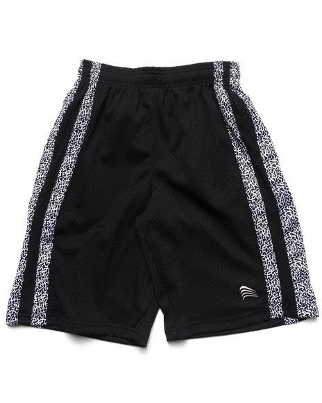 Arcade Styles - Boys Black Mesh Shorts W/ Dazzle Trim (8-20) - $6.99