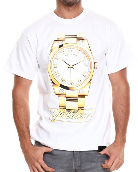 Filthy Dripped White Time Is Golden T-Shirt