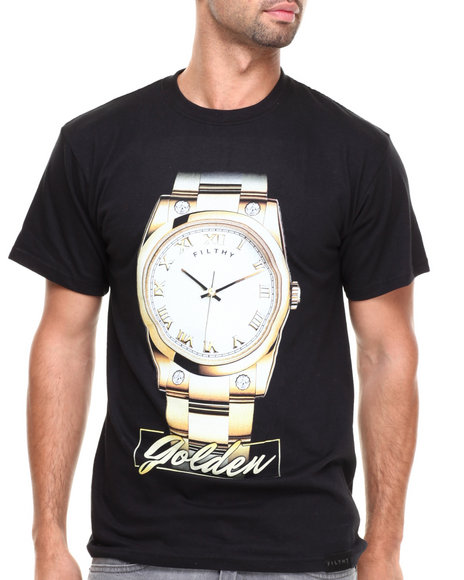 Filthy Dripped Black Time Is Golden T-Shirt
