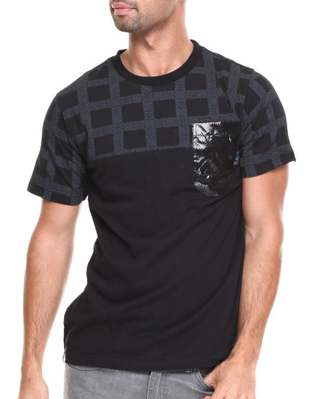 Enyce - Men Black Faded T-Shirt - $13.99