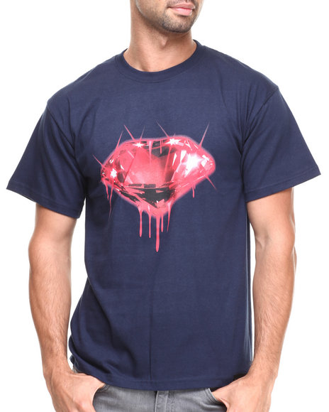 Filthy Dripped - Men Navy Blood Diamond T-Shirt