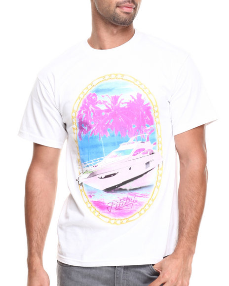 Filthy Dripped White Yacht Crew T-Shirt