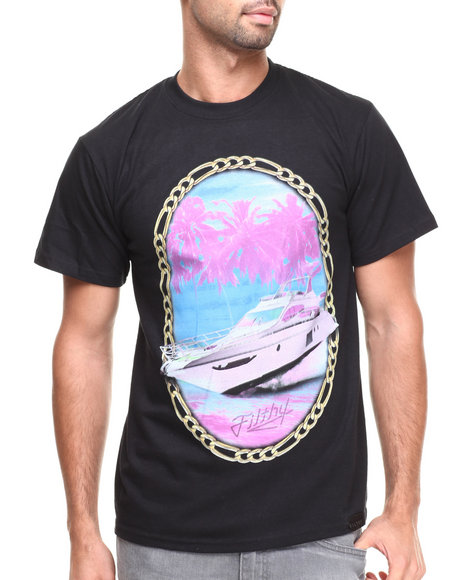 Filthy Dripped - Men Black Yacht Crew T-Shirt - $17.99