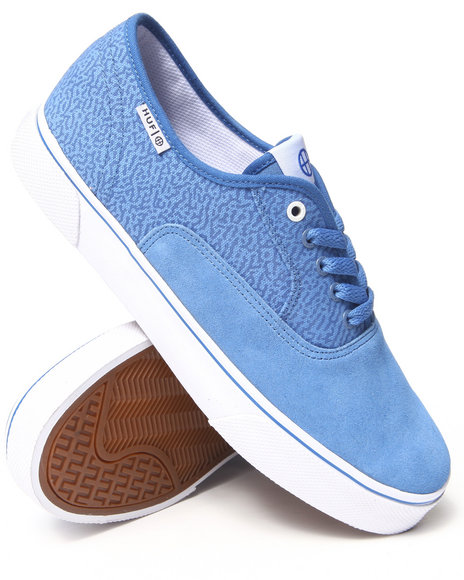 HUF Blue Mateo Suede/Canvas Sneakers