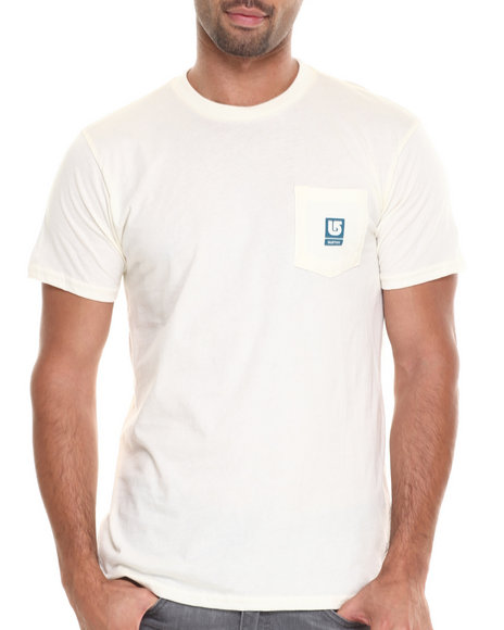 Burton - Men White Rockford Slim Fit Tee
