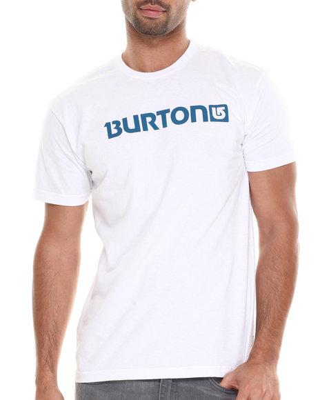 Burton White Logo Horizontal Tee