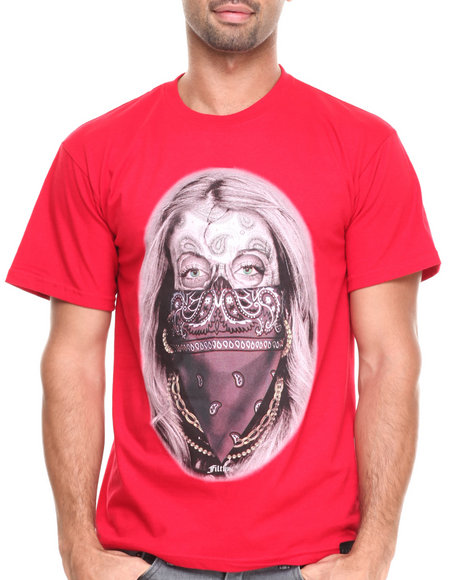 Filthy Dripped Red Paisley Queen T-Shirt