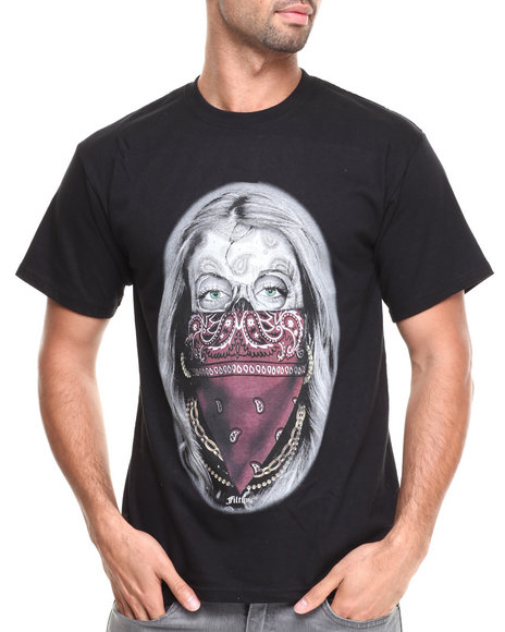 Filthy Dripped Black Paisley Queen T-Shirt