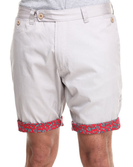 Sabit Grey Chino Shorts