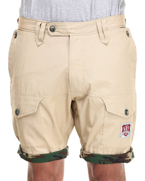 Sabit - Men Khaki Lake Cargo Shorts