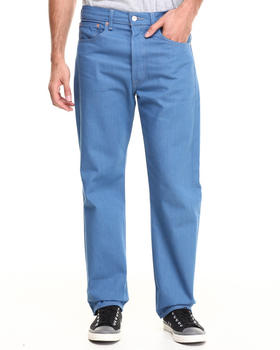 Levi's - 501 Shrink-To-Fit Straight Fit Snorkel Blue Jeans