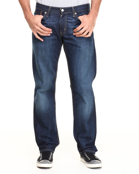 Levi's Blue 514 Slim Straight Fit Shoestring Jeans