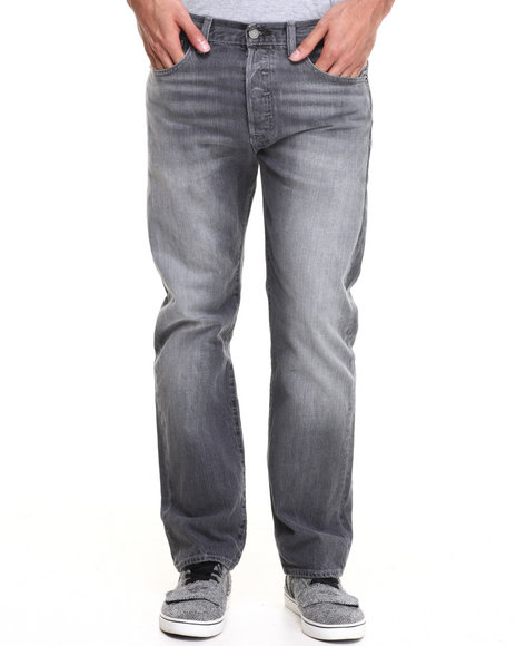 Levi's Grey 501 Straight Fit Elephant Jeans