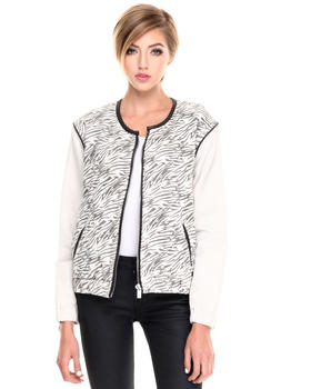 Jackets & Coats - ANIMAL PRINT BOMBER JACKET