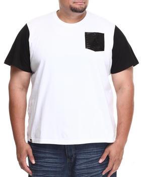 Akademiks - Avanti Colorblock Tee w/ Croc Vegan Leather Pocket (B&T)
