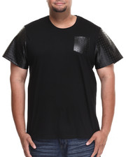 Men - Vault Short Sleeve Tee w/ Embossed Vegan Leather Trim (B&T)