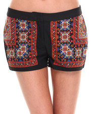 Shorts - SCARF PRINTED SHORTS