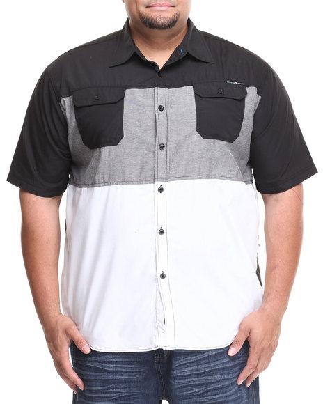 Enyce Black Malibu S/S Button-Down (Big & Tall)