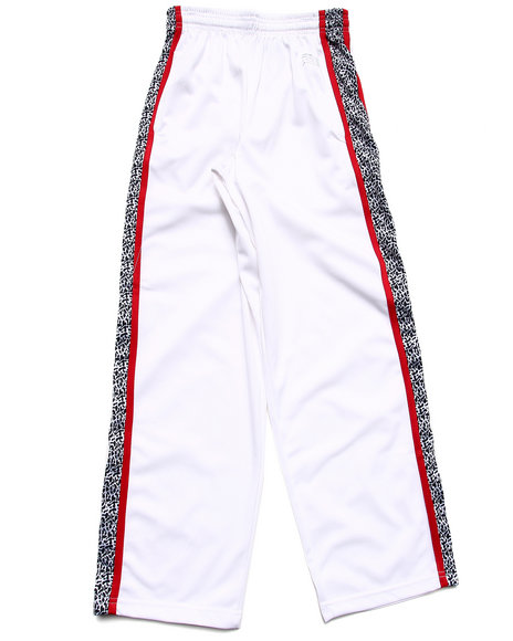 Arcade Styles - Boys White Elephant Print Tricot Track Pants (8-20)