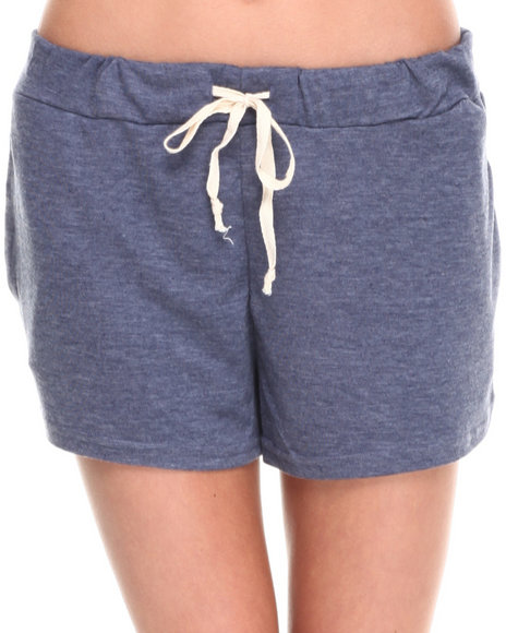 Fashion Lab - Women Navy Soft Blended Drawstring Short